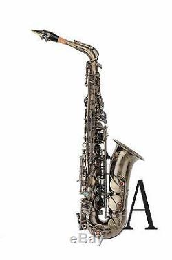 100% New Professional Eb Antique Bronze Surface High F# Alto Saxophone