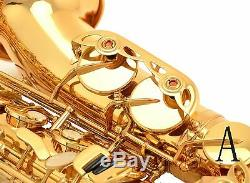 100% New Professional Eb Gold Paint Gold High F# Alto Saxophone
