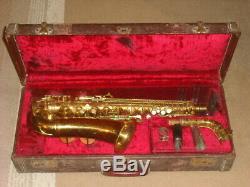 1914 C. G. Conn Professional Alto Saxophone Orignal Case Elkhart Indiana USA