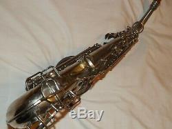 1927 Conn New Wonder II Chu Alto Sax/Saxophone, Original Plating, Plays Great