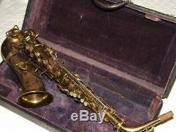 1927 Conn New Wonder II Chu Portrait Artist Alto Sax, Nice, Plays Great