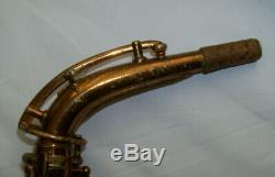 1936 BUESCHER ARISTOCRAT ALTO SAXOPHONE -Orig Lacquer -VERY GOOD CONDITION $749