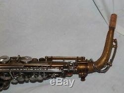 1936 Buescher Aristocrat Alto Saxophone, Recent Pads Complete