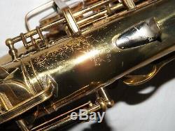 1942 Buescher Big B Aristocrat Alto Saxophone, Good Pads, Plays Great