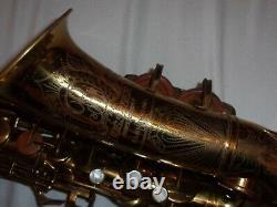 1943 Buescher Aristocrat Big B Alto Sax/Saxophone, Original Laquer, Plays Great