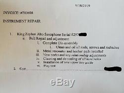 1948 King Zephyr Alto Saxophone Sax hardcase Morgan mouthpiece Theo Wanne lig
