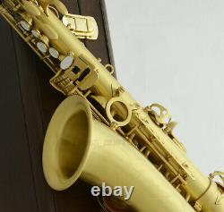 54 Reference Professional Wire drawing Brass Alto Saxophone Eb Sax High F# +Case