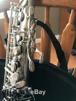 Black and Silver Gerald Albright Cannonball Alto Saxophone Excellent Condition