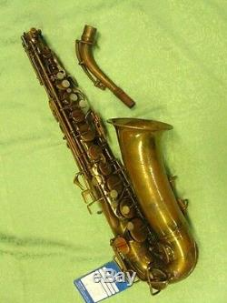 Buescher Aristocrat Series I Alto Saxophone-Made c. 1936-Slant Signature-WOW
