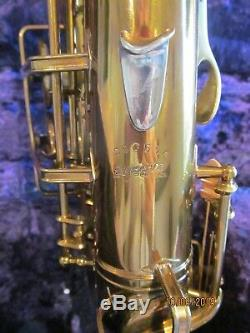 Buescher Big B Alto Saxophone. Original Lacquer Finish,'41-42, #296, xxx