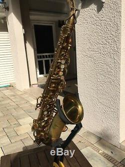 Buescher Big B Alto Saxophone. Original Lacquer Finish,'47-48, #308, xxx