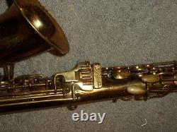 Buescher Big B True Tone Aristocrat Alto Saxophone, 1948, Original, Plays Great