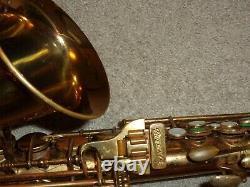 Buescher Big B True Tone Aristocrat Alto Saxophone, 1949, Original, Plays Great