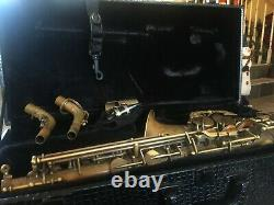 CANNONBALL BIG BELL STONE SERIES BRUTE FINISH ALTO SAXOPHONE SAX (With 2 NECKS)