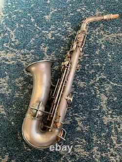 CG Conn Silver New Wonder II Chu Berry Alto Saxophone Low pitch Original Case