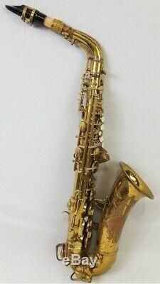 CONN 6M 1946 Naked Lady Alto Saxophone (318XXX) Micro Tuner, Rolled Tone Holes