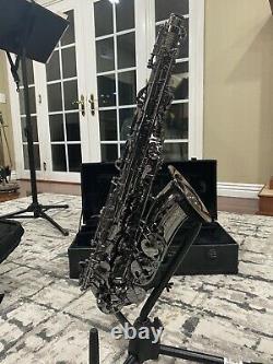 Cannonball Alto Saxophone Big Bell Stone Series 2 Necks BLACK NICKEL