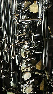 Chateau Alto Saxophone Professional Model All Black Plated Body & Keys(CAS-80BB)
