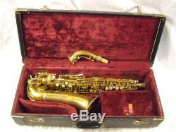 Conn 26m Connqueror Pro Alto Saxophone Sterling Silver Key Touch Areas Rare