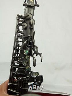 Eastern Music Professional matt black nickel plated Alto Saxophone withengravings