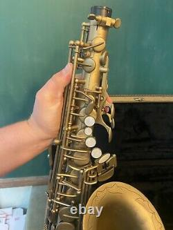 Excellent Antigua Winds Classic Unlacquered Professional Alto Saxophone