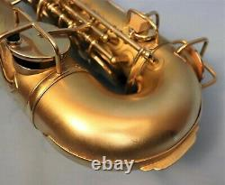 H. N. White King Alto Saxophone. Late'20's Gold Plated Beauty, Fully Restored