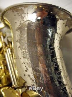H. N. White King Super 20 Silver Sonic Alto Saxophone Sterling Bell/neck 390, XXX