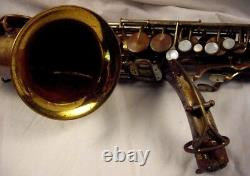 H. N. White King Zephyr Special Alto Saxophone Full Pearls Sterling Neck Rare