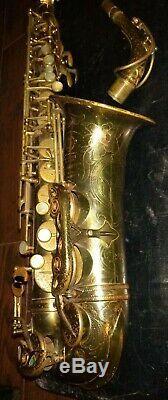 Henri Selmer Balanced Action alto saxophone c1939 sax