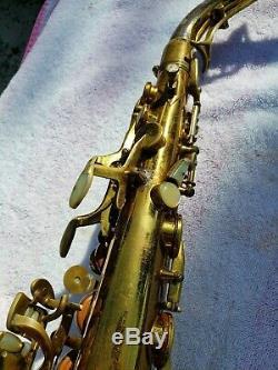 KING SUPER 20 Alto Saxophone Full Pearls Silver Neck BEAUTIFUL SAX