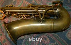 King-Super 20-Gold Lacquer-Unlacquered-Alto-Saxophone-Sterling Silver Neck-1948