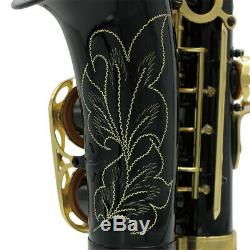 LADE Professional Brass Eb E-flat Alto Saxophone Sax with Case Gloves Belt Brush