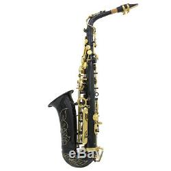 LADE Professional Eb Alto Sax Saxophone with Case and Accessories Black New
