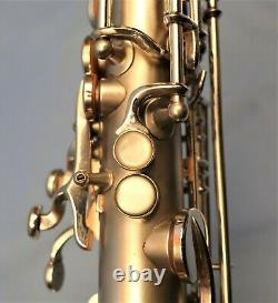 Martin Typewriter Model Alto Saxophone, Restored For Your Collection. Silver