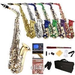 Mendini by Cecilio Alto Saxophone Sax +Chromatic Tuner, First Lesson Book/CD
