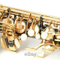 New Professional Brass Band Eb E-flat Alto Saxophone Sax Black with Carry Case