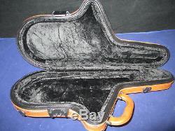 Prestini Professional Alto Saxophone Case Light Brown Italian Leather