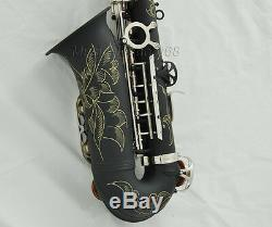 Prof Matt Black Paint Silver nickel Alto saxophone Eb high F# sax Abalone keys