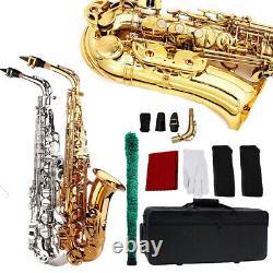Professional Alto Eb Saxophone Sax E Flat with Case Mouthpiece & Accessories Kits