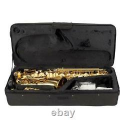 Professional Alto Eb Saxophone Sax Gold with Case Mouthpiece & Accessories