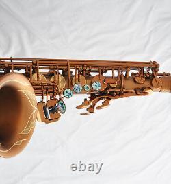 Professional Brand new Matt Coffee Alto Saxophone Eb Sax High F# Abalone Keys