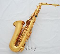 Professional Gold 54 Reference Eb Alto Saxophone High F# WITH Metal Mouthpiece