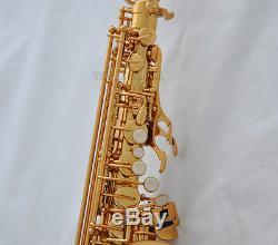 Professional Gold New TAISHAN Eb Alto Sax Saxophone High F# Saxofon Italian pads