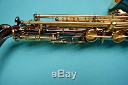 Professional Keilwerth SX90R Black Nickel Alto Saxophone with Mouthpiece+Access