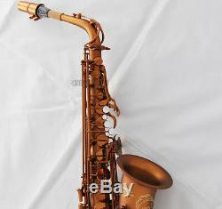 Professional Matte Coffee Eb Alto Saxophone New 875 Model Sax high F# With Case