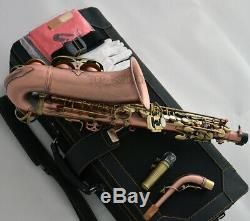 Professional New Alto Saxophone Red Antique Body Bronze key 991 Model sax