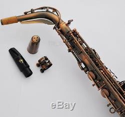 Professional TaiShan 5000 Model Alto Saxophone Red Antique Eb Sax Engraving Bell