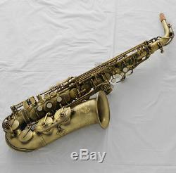 Professional TaiShan Brand New Alto Saxophone Antique Eb Sax High F# Italian pad