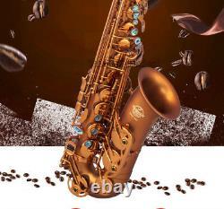 Professional TaiShan Matt Coffee Alto Saxophone 661# sax Abalone Key WithCase