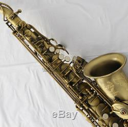 Professional TaiShan Newest Alto Saxophone Matte Antique Sax Eb High F# WithCase